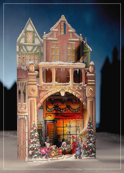 Christmas market - christmas greeting card