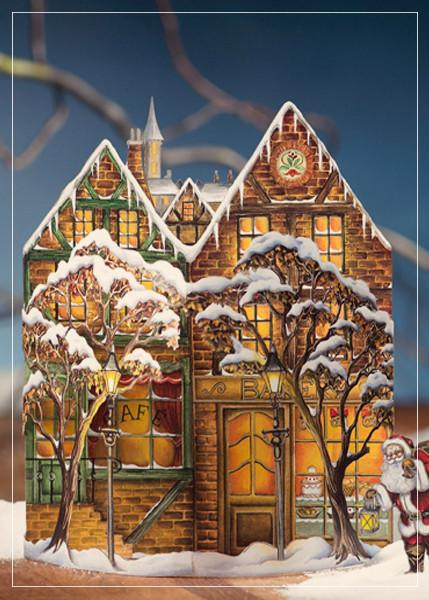 Christmas town - christmas greeting card