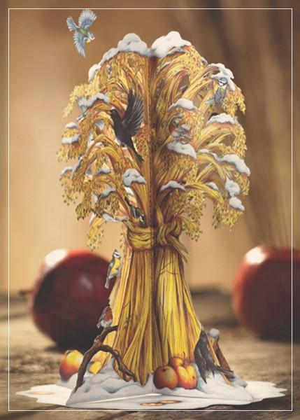 Golden sheaf - christmas greeting card