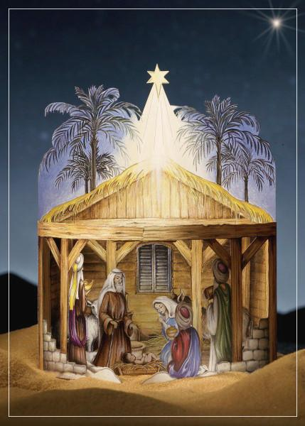 Nativity Play - christmas greeting card