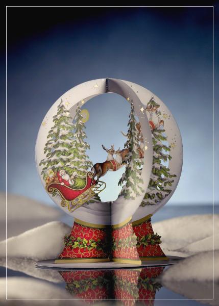 Snow Globe - christmas greeting card